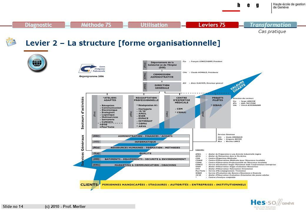 Levier 2 – La structure [forme organisationnelle]